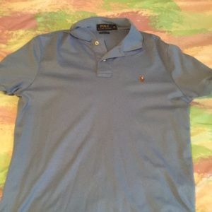 Baby Blue polo by Ralph Lauren college shirt